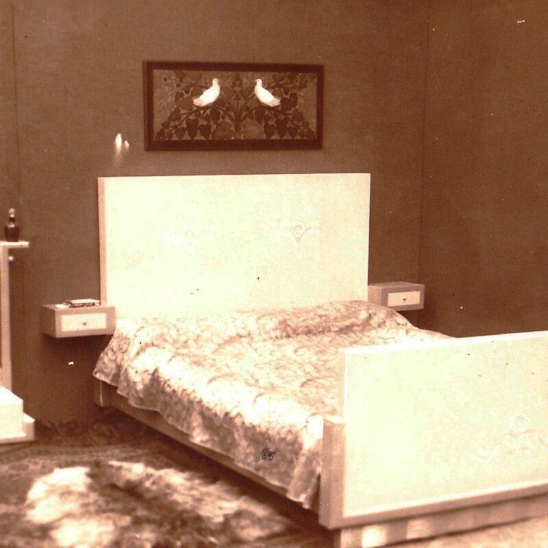 Arredi per camera da letto - fotografia - metà ani venti - cm. 24x18