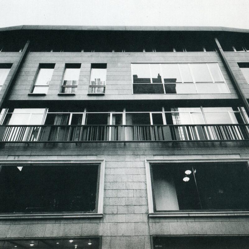 Balconata della sede Tecno a Milano