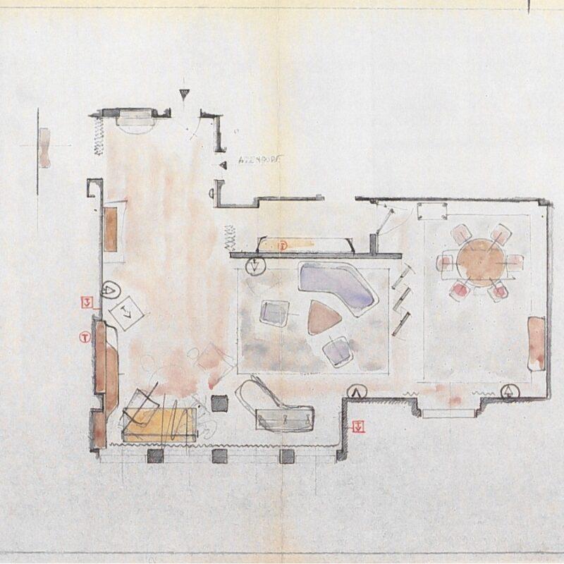 Casa V - Piantina della casa