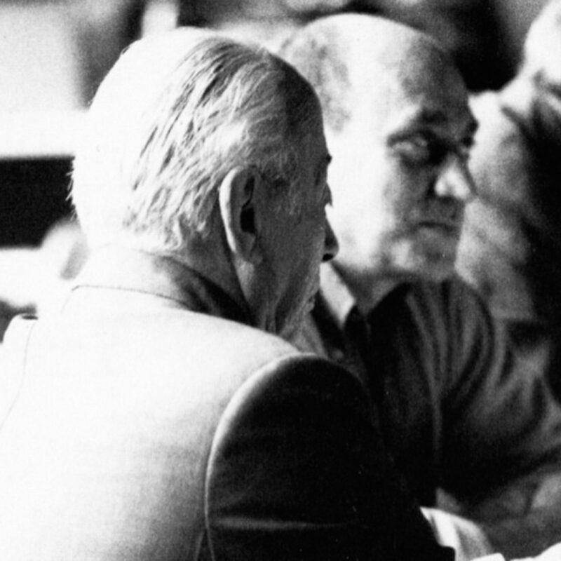 Osvaldo Borsani con Arnaldo Pomodoro