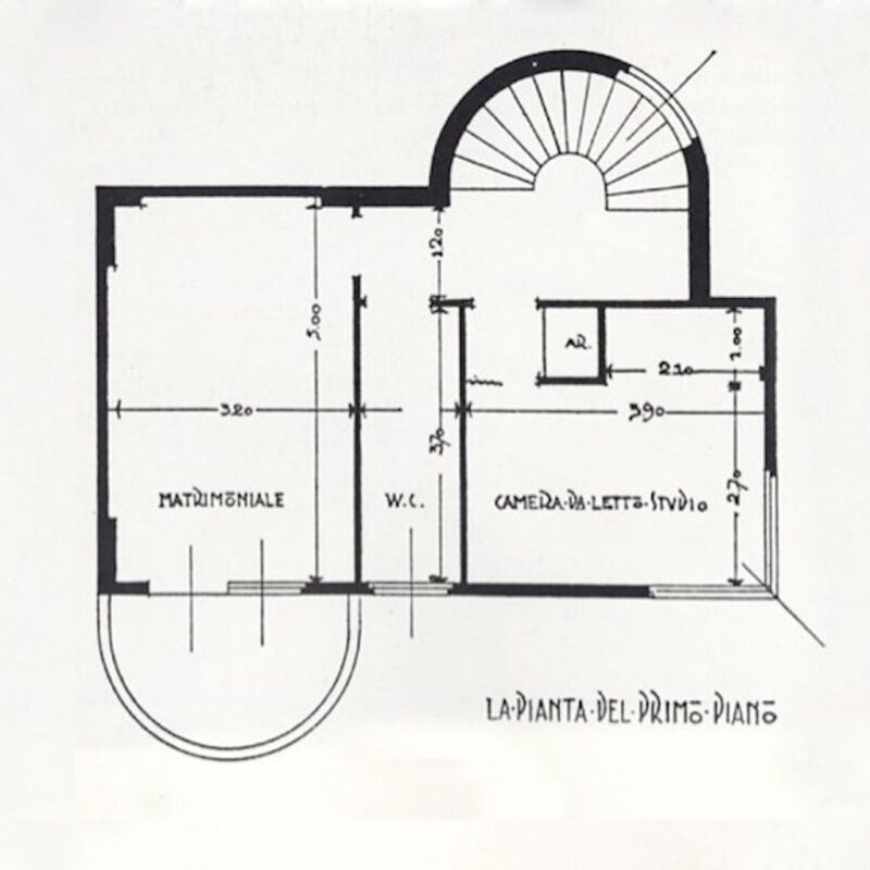 V Triennale - piantina casa minima