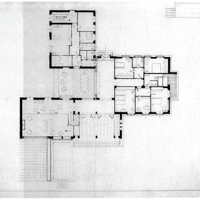 Villa Pesenti - Pianta della casa
