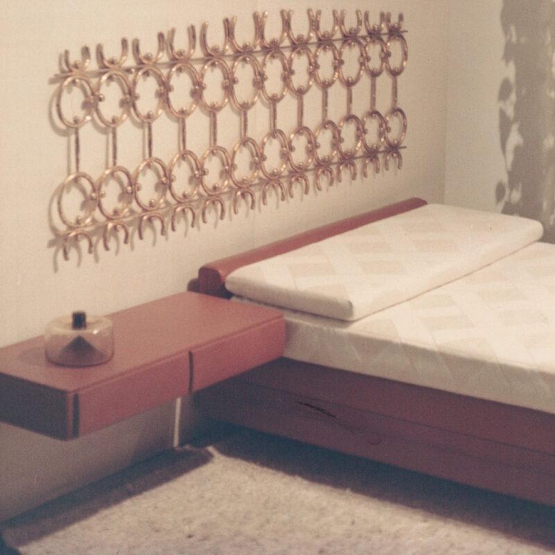 Testata per letto in ottone