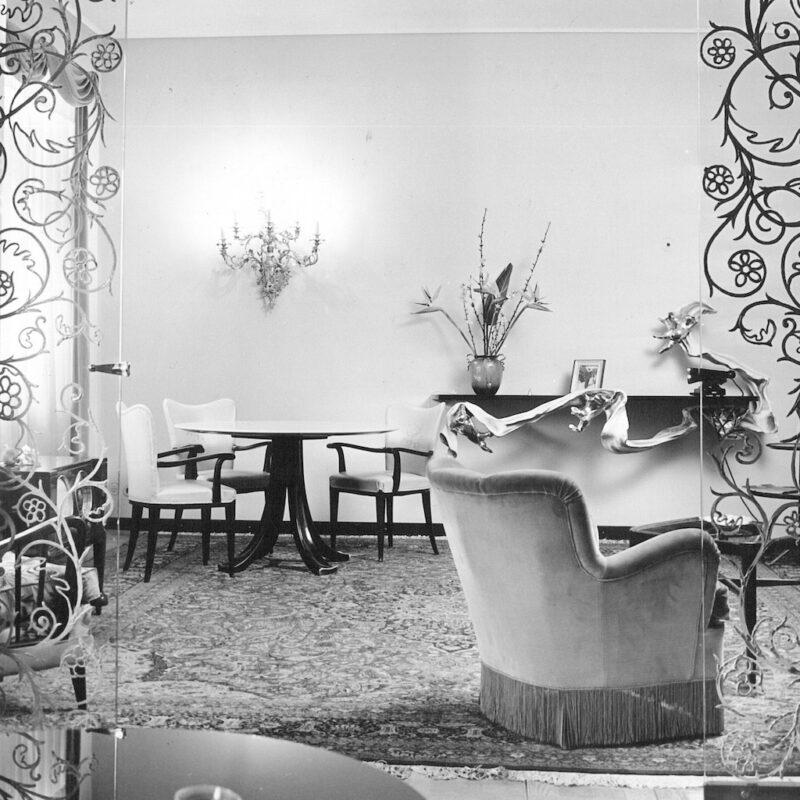 Interno di Casa Melandri a Milano, 1951