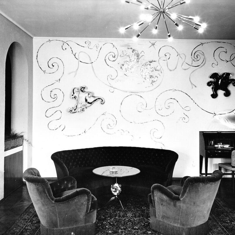 Interno di appartamento primi anni '50