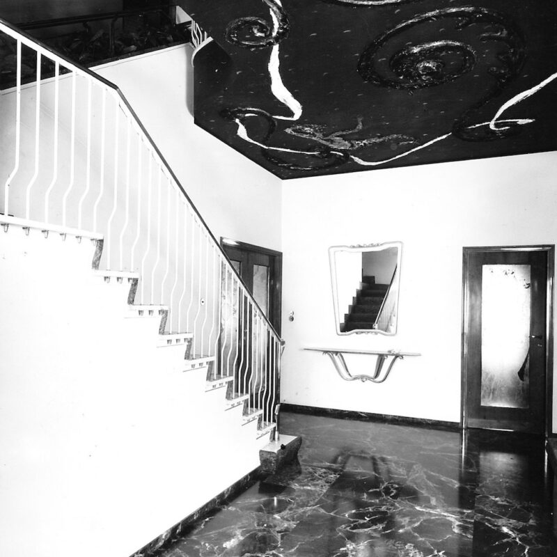 Soffitto decorato a Casa R., 1945