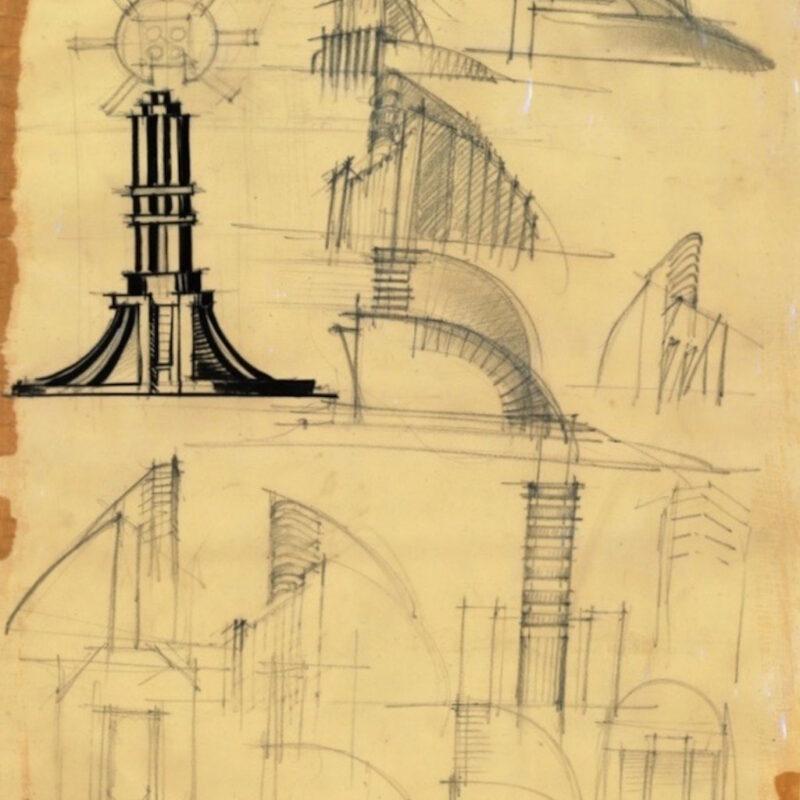 SCHIZZI DEL MOMUMENTO ALL'AUDACIA - ANNI '26-'29 ACCADEMIA DI BRERA