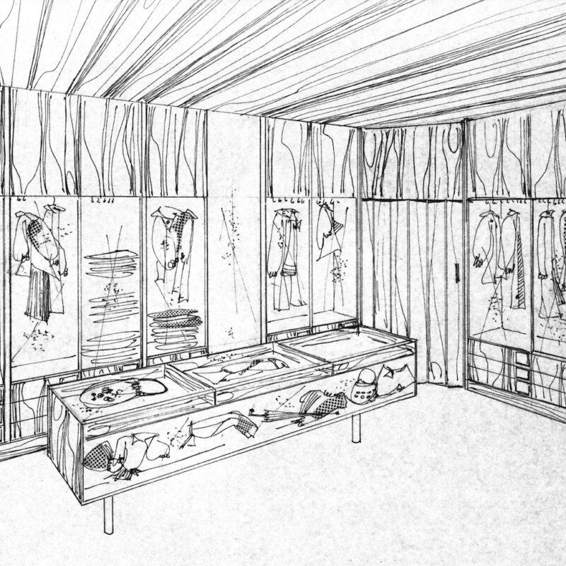 Negozio di moda - eliocopia - anni cinquanta - cm. 32,5x24